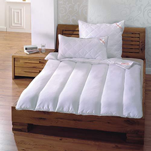 Bestlivings Edredón de alta calidad de 135 x 200 cm, incluye almohada de 80 x 80 cm, antibacteriano Sanitized, lavable hasta 95 grados, apto para alérgicos al polvo