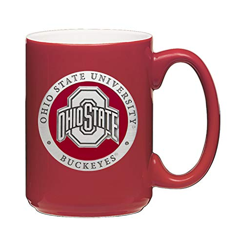Heritage Pewter Ohio State Buckeyes 15 Ounce Coffee Mug | Mug for Coffee, Beverages | Intricately Crafted Metal Pewter Alma Mater Inlay