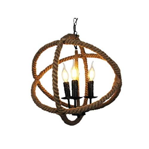 Kroonluchter - Decoratieve kroonluchter met enkele kop Amerikaanse candelraat; snoer (26 cm * 26 cm) binnenverlichting (kleur: B-warm licht)