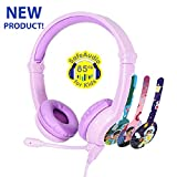 ONANOFF BuddyPhones Galaxy, Volume-Safe Gaming Headset for Kids, Detachable 3.5mm Jack with High-Performance BeamMic, Perfect for Gaming on a PS4, Xbox One, Nintendo Swith, or PC, Purple