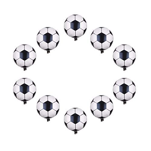 AIUIN 10pcs Globos Forma de Futbol Decoraciones de Fiesta de Cumpleaños Súper Grande Modelo Globo de Papel de Aluminio