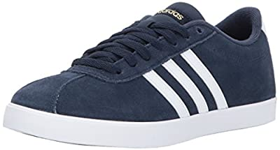 adidas Women's Shoes   Courtset Sneakers, Collegiate Navy/White/Metallic Gold, (5 M US)