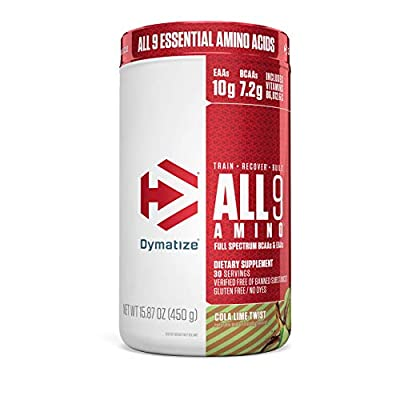 Dymatize All9 Amino with Full Spectrum BCAAs, 10g of Essential Amino Acids Per Serving for Optimal Muscle Protein Synthesis
