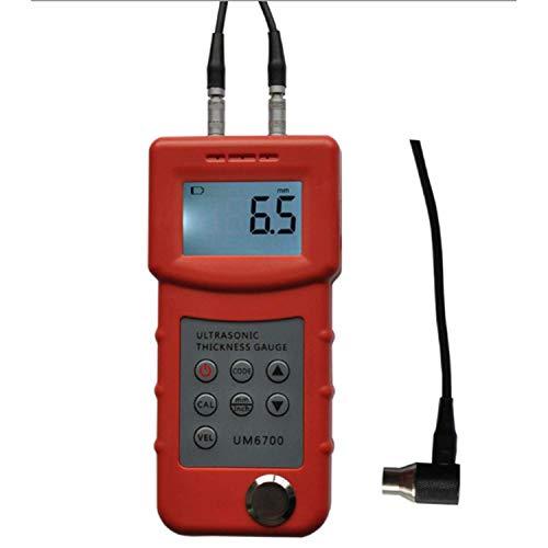 ZJN-JN Haute précision UM6700 à ultrasons Jauge d'épaisseur compteur Plage de mesure 1.0-280mm 4.5 chiffres LCD numérique Test Epaisseur métal Indicateurs de mesure
