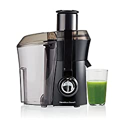 "Image of Hamilton Beach Juicer Machine, Big Mouth 3"" Feed Chute, Centrifugal, Easy to Clean, BPA Free, 800W, (67601A), Black: Bestviewsreviews"