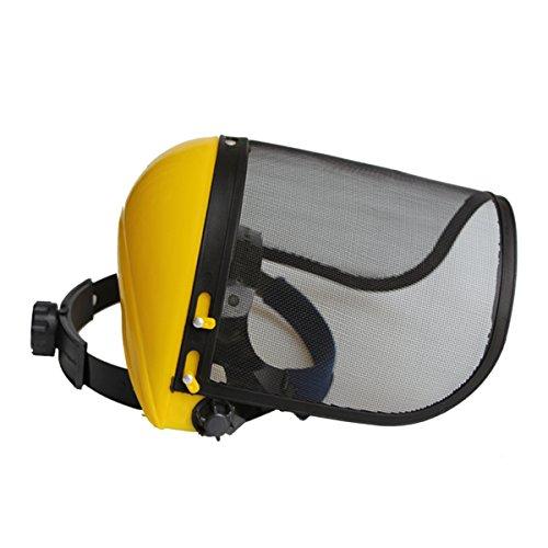 BESTOMZ Casco protector de la malla Casco protector de la motosierra para la cortadora del cepillo de la motosierra Protección del cortacésped