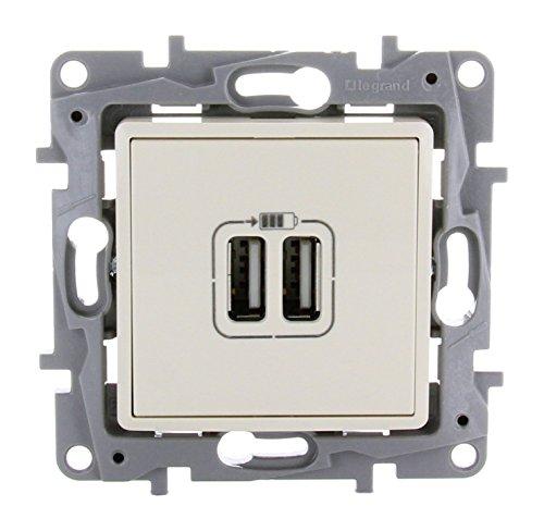 Legrand 448396619Cargador USB doble