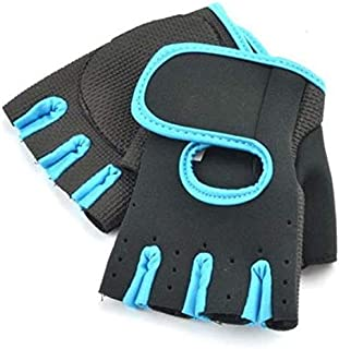 Gym Gloves Blue Edges