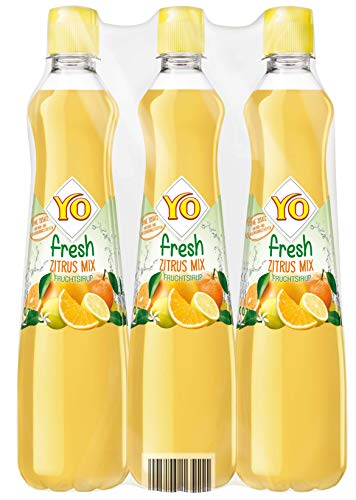 Yo Sirup Fresh Zitrus-Mix, 6er Pack, PET (6 x 700 ml)