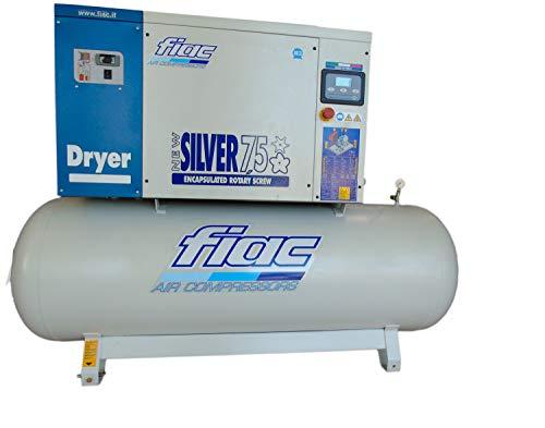 Elektrische compressor met schroef Fiac New Silver D 7,5/500 liter tank 7,5 Hp
