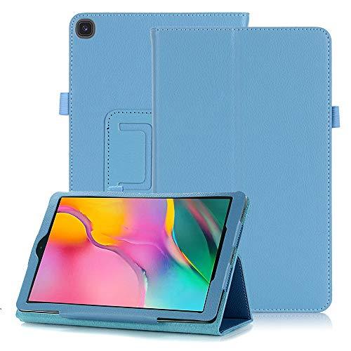 FAN SONG Funda para Samsung Galaxy Tab A 8.0 Pulgadas T290/T295 2019, Carcasa de Cuero PU Magnético con Soporte y Auto-Sueño/Estela para Galaxy Tab A8 8.0 Modelo SM-T290/T295/T297, Cielo Azul