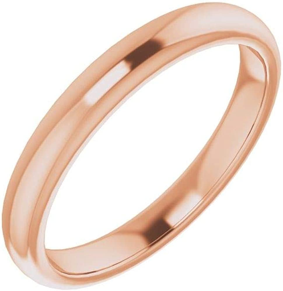 Solid 10K Rose Ranking 67% OFF of fixed price TOP1 Gold Curved Notched Band for Cushion 5mm Wedding