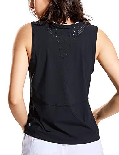 CRZ YOGA Camiseta Deportiva de Tirantes Run Athletics Mujer Negro 38