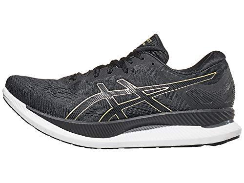 ASICS Men's GlideRide Running Shoes, 12.5M, Black/Pure Gold