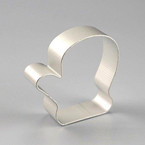 joyliveCY 1 Stück Aluminium Fondant Backen, Dekorieren Cutter Mould Sugarcraft Kuchen Tools Handschuh-förmigen