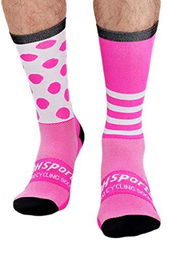 Zilcremo Calcetines de viaje de unisex transpirable sudor para hombre Ciclismo de viaje Rosa One Size