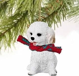 Cockapoo Tiny Miniature One Christmas Ornament White - DELIGHTFUL!