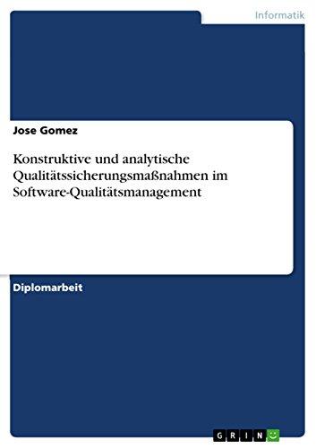Konstruktive und analytische Qualitätssicherungsmaßnahmen im Software-Qualitätsmanagement