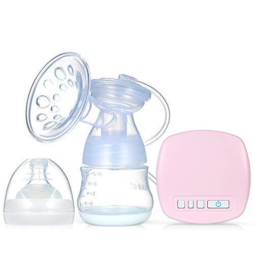 Decdeal - Tiralatte Elettrico Ricaricabile con Cuscino Massaggiatore per L'Allattamento al Seno, Senza BPA, Rosa (Singolo)