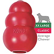 KONG - Classic Dog Toy - Durable Natural Rubber - Fun to Chew, Chase and Fetch - for XXL Dogs