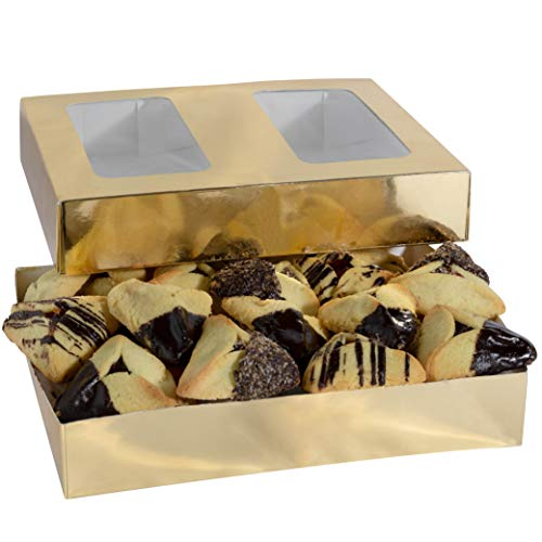 Granny Bella Hamantaschen Purim Gift Baskets | Assorted Hamentaschen Shalach Manos Bulk Cookies Chocolate Dipped & Sprinkled | Gourmet Shortbread Prime Kosher Purim Gifts Mishloach Manot Basket 2 Pack