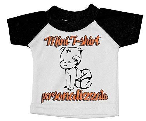 Mini T-Shirt Bébéà Bord Voiture Imprimé Nom Personnalisé Photo Motif Noir Blanc
