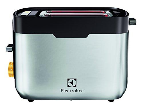 Electrolux EAT5300 - Tostador de doble ranura y calentador de pan y bollería, acabado en acero inoxidable