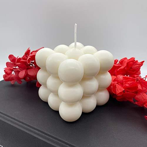 Kerze Bubble Kerze Handmade Cube Deko Würfel Romantik Candle 6x6x6 cm