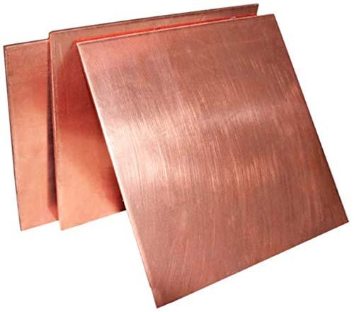 T2 Placa de cobre conductorThick Red Copper Square Mass Placa de cobre puro DIY Hoja de cobre Bloque de cobre 1x300x300mm