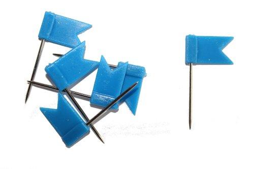 dalipo 31015 - Markiernadeln, Fahne, 100 Stück, blau