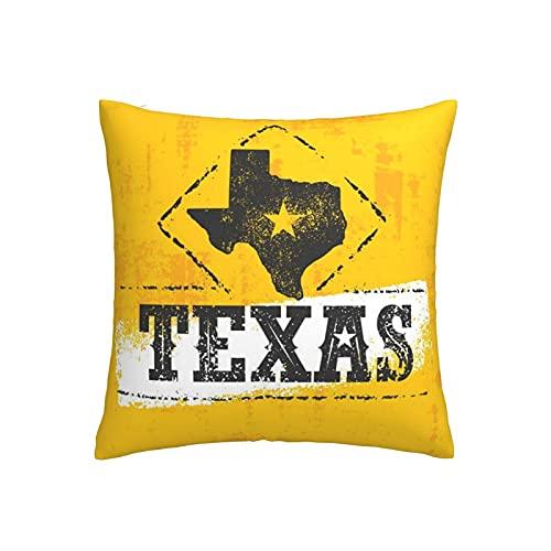 DRXX Dekokissen - Texas Pride Dekokissenbezüge Moderne Dekorative Kissenbezüge Polyester Kissenbezüge Kissenbezüge Sofa Wohnkultur 45x45cm