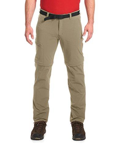 Maier Sports Tajo T-Zipp Off Pantalon d'extérieur pour Homme 98 cm Beige