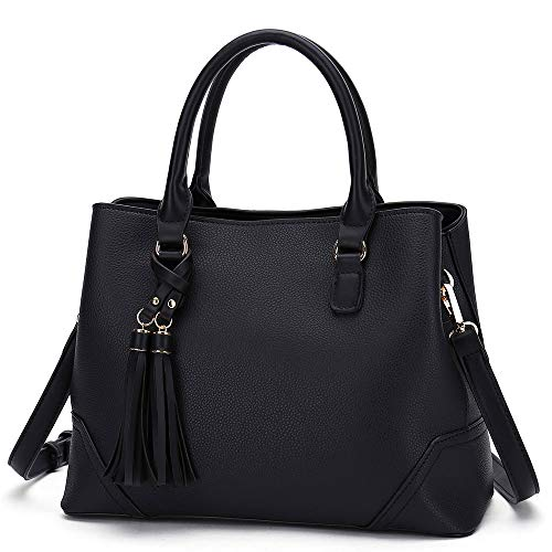 【SAY NO TO BROKEN STRAPS】: Top-handle strap and crossbody strap of this women handbag are made from upgrade synthetic leather. The connections between strap and bag body are secured by strengthening stitching and strong backing to ensure no broken st...