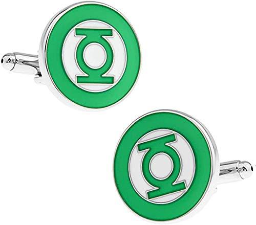 Yeaser Manschettenknöpfe Green Lantern rhodiniert 1 Paar