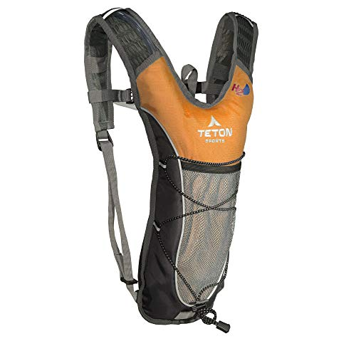 TETON Sports TrailRunner 2.0 Hydration Pack; 2-Liter Hydration Backpack with Water Bladder; For Backpacking, Hiking, Running, Cycling, and Climbing (Orange)