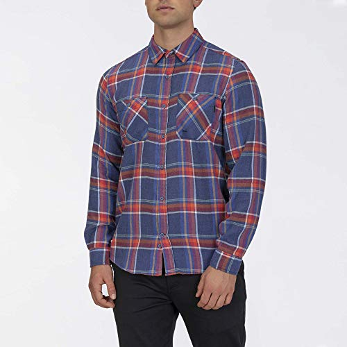 Hurley M Creeper Washed L/S Chemises Homme Gym Blue FR: M (Taille Fabricant: M)