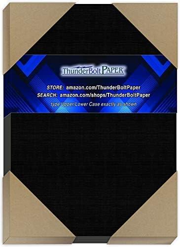 200 Black Max 57% OFF Linen 80# Cover Paper Sheets 6.5