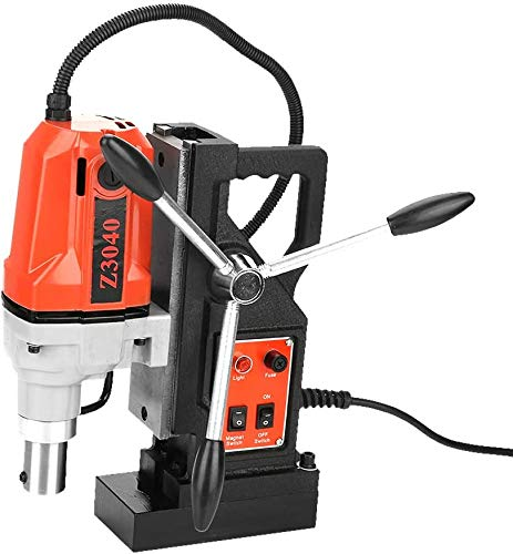 Magnetic Drill 220V Magnetic Drilling Machine Metal Drill Press 1100W High Power Multi-Function Metal Drill Press for Drilling and Tapping UK Plug