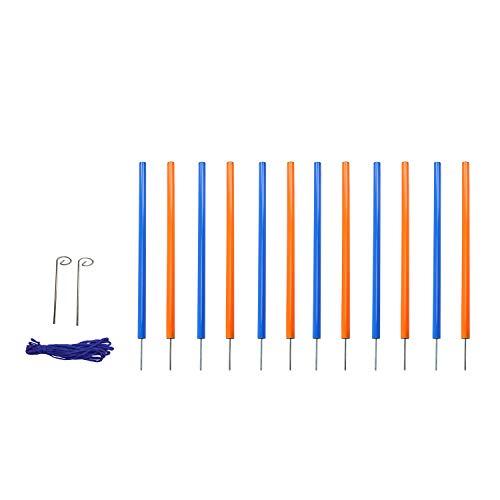 MiMu Dog Agility Equipment - Agility Set Dog Weaving Poles Dog Obstacle Course, Dog Agility Training Equipment