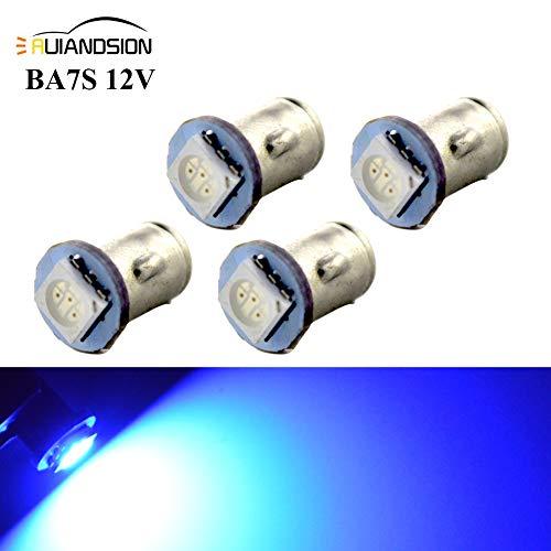 Ruiandsion 4x BA7S LED Éclairage intérieur pour auto 12V 5050 1SMD 30lm, bleu