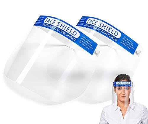 [2 Stück] Face Shield mit Anti Beschlag Visier und angenehmem Dank Polsterung- Gesichtsschutzschild, Faceshield, Visier, Spuckschutz…