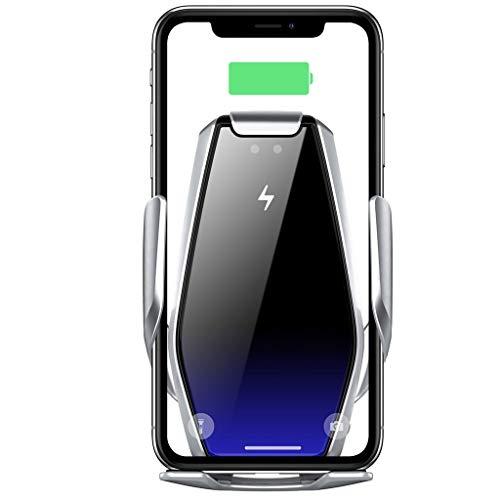 Cargador de coche inalámbrico 15W QI rápido del cargador del coche titular de montaje 360 ° de rotación for Apple iPhone 11/8/8 Plus / X / XS / XR, Samsung S9 / S9 + / S8 / S8 + / Nota 8, Huawei P30