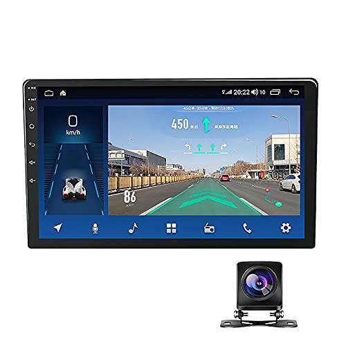 BVDOYFYJ Receptor de Radio estéreo de Coche de 10 Pulgadas HD Doble DIN, Pantalla táctil Android MP5 Multimedia, Soporte de navegación GPS Bluetooth Radio FM