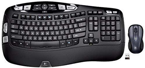 Logitech MK550 Wireless Wave K350 Keyboard and MK510 Laser Mouse Combo — Includes Keyboard and Mouse, Long Battery Life, Ergonomic Wave Design and Wireless Mouse