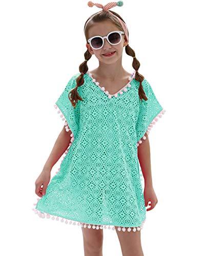 iDrawl Cover Up Pareos Sommer Grün Strandkleider für Mädchen One Size Bademode für 7-13 Jahre Alte