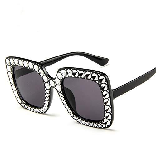 Gafas De Sol para Mujer Gafas De Sol Extragrandes con Montura Cuadrada Moda Retro Gafas De Conducción Gafas Falsas Fiesta De Vacaciones De Viaje