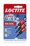 Loctite Super Glue-3 Mini dose (3 x 1 g), colle extra forte pour réparation de qualité, colle forte & rapide tous matériaux, colle universelle liquide en format doses