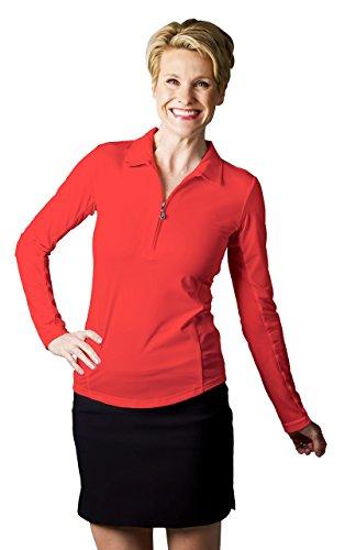 SanSoleil - Golf-T-Shirts für Damen in Rot, Größe Einheitsgröße