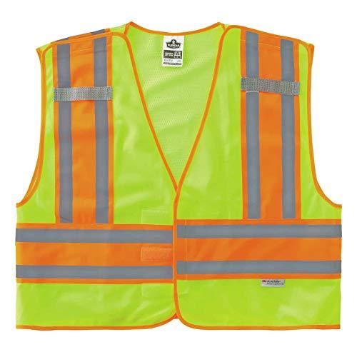 GloWear ANSI High Visibility Lime Breakaway Public Safety Vest, 6XL/7XL