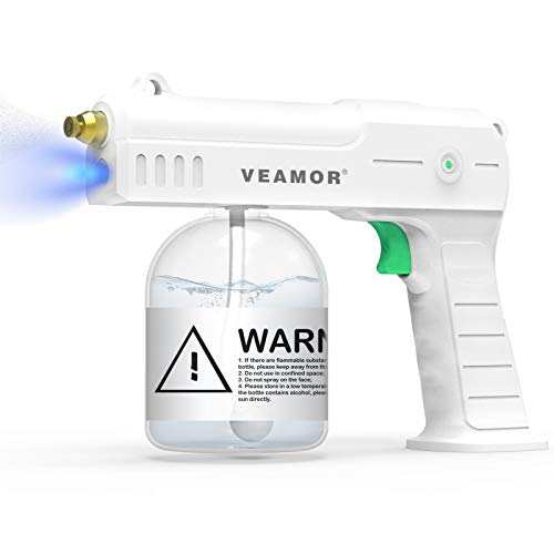 VEAMOR Nano Sanitizer Spray Machine, Handheld ULV Electric Spray Gun Fogger, Rechargeable Portable Mini Atomizer Disinfection Machine with Strong Light.